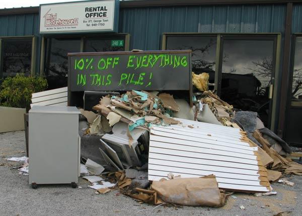 Grand Cayman After Hurricane Ivan